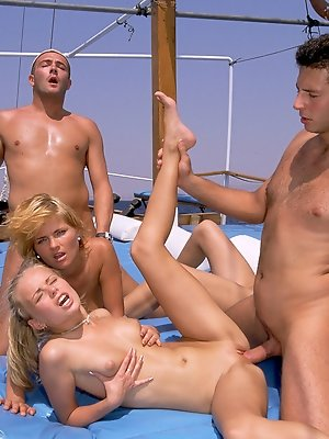 Boat orgy getting out of...