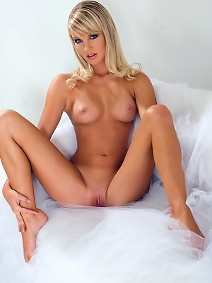 Elegant blonde angel with a...
